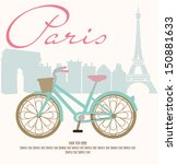 paris with love | Shutterstock .eps vector #150881633