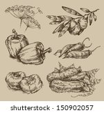 balgarsky pepper,bed,bold,branch,chili,cook,crop,cuckoos,cucumber,cuisine,distressed,drawing,farmer,fennel,food