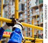 construction workers working on ... | Shutterstock . vector #150905147