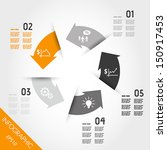 five orange infographic arrows... | Shutterstock .eps vector #150917453
