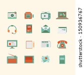 media icon set  | Shutterstock .eps vector #150936767