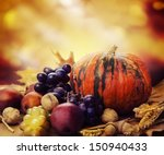 Autumn Concept With Seasonal...