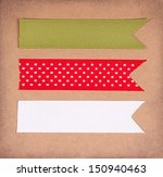 christmas ribbon tags on a... | Shutterstock . vector #150940463