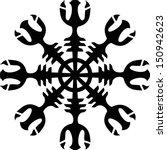 aegishjalmur  helm of awe ... | Shutterstock .eps vector #150942623