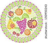fruits pattern illustration | Shutterstock . vector #150950243