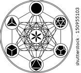 metatrons cube  platonic solids ... | Shutterstock .eps vector #150955103