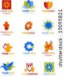icons of flower | Shutterstock .eps vector #15095821