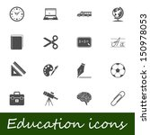 education icons. vector... | Shutterstock .eps vector #150978053