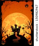 halloween night background with ... | Shutterstock . vector #150982967