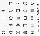 baking,beanpot,cauldron,chip pan,clay pot,colander,cooking,cover,design,double boiler,frying pan,griddle,home,icon,karahi