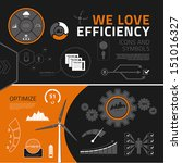 efficiency vector infographics... | Shutterstock .eps vector #151016327