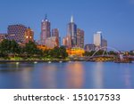 Melbourne At Dusk From...