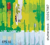 grunge texture  eps 10   Shutterstock .eps vector #151017587