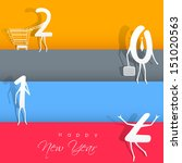happy new year 2014 colorful... | Shutterstock .eps vector #151020563