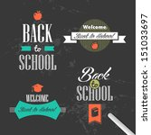 back to school colorful vintage ... | Shutterstock .eps vector #151033697