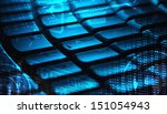 computer keyboard with glowing... | Shutterstock . vector #151054943