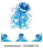 flowers for decoration ... | Shutterstock .eps vector #151086713