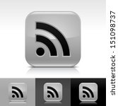 rss icon set gray color glossy...