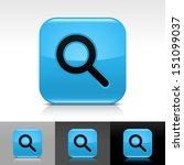magnifying glass icon blue...