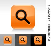 magnifying glass icon orange...