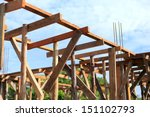 set of wood pine timber for new ... | Shutterstock . vector #151102793
