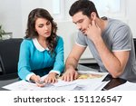 couple is considering the... | Shutterstock . vector #151126547