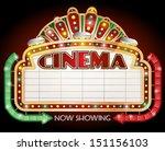 illustration of a cinema sign... | Shutterstock .eps vector #151156103
