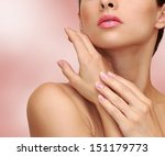 beauty woman hands with health... | Shutterstock . vector #151179773