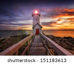 Annisquam Lighthouse At Sunset...