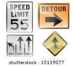 traffic series 1 | Shutterstock .eps vector #15119077