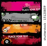 grunge stylish banners 1.  to... | Shutterstock .eps vector #15120859
