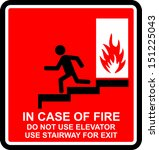 in case of fire | Shutterstock .eps vector #151225043