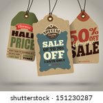 vintage style sale tags design | Shutterstock .eps vector #151230287