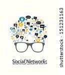social network concept vector | Shutterstock .eps vector #151231163