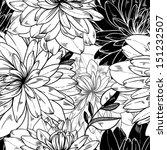 seamless monochrome vector... | Shutterstock .eps vector #151232507