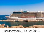 the big tourist liner in a port | Shutterstock . vector #151240013