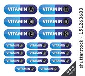 vector   group of vitamin... | Shutterstock .eps vector #151263683