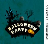 happy halloween party poster ... | Shutterstock .eps vector #151265477