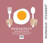 breakfast vector illustration... | Shutterstock .eps vector #151266647