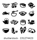 vector black japan food icon... | Shutterstock .eps vector #151274423