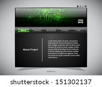 website template in black and... | Shutterstock .eps vector #151302137