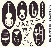 Jazz Musical Instruments Vecto...