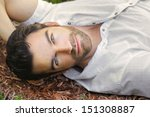 portrait of young man outdoors... | Shutterstock . vector #151308887