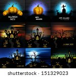 happy halloween collection... | Shutterstock .eps vector #151329023