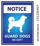 Blue Notice Plate For Safety...
