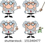 funny scientist or professor... | Shutterstock .eps vector #151340477