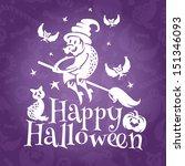 happy halloween greeting vector ...   Shutterstock .eps vector #151346093