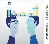exchange business ideas   Shutterstock .eps vector #151366703