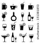 drink icons set | Shutterstock .eps vector #151381853