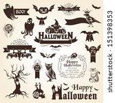 set of halloween design... | Shutterstock .eps vector #151398353